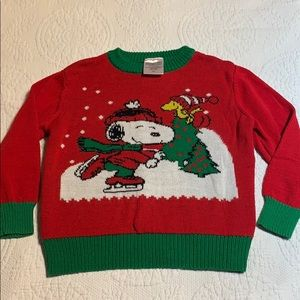 5/$25 Children's peanuts Christmas sweater. 3T